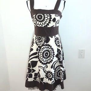 Speechless Brown White Knew Length Dress Medium